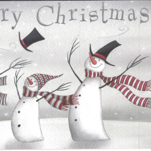 Hats Off Christmas Card