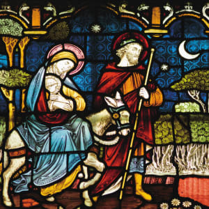 Stained Glass Mary and Joseph