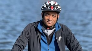 Dayanand Cycling To Support Cherry Trees